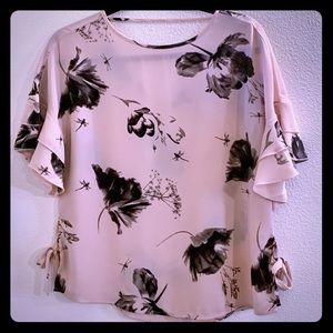 Express Butterfly Sleeve Blouse with Side Ties